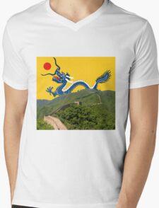 Great Wall Dragon 2 Mens V-Neck T-Shirt