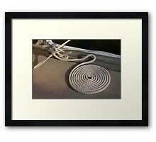 Neatness Counts! ~ Rope on the Pier Framed Print
