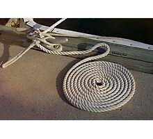 Neatness Counts! ~ Rope on the Pier Photographic Print