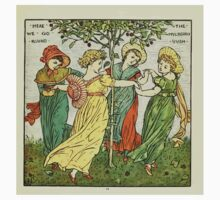 The Baby's Opera - A Book of Old Rhymes With New Dresses - by Walter Crane - 1900-15 The Mulbery Bush Plate Kids Tee