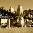 Sydney Harbour Bridge, Australia (SEPIA) by Jonathan Jones