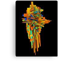 Coloured Blocks Canvas Print