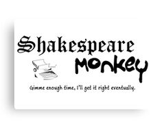 Shakespeare Monkey Canvas Print