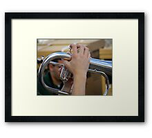 7 Notes And 2 Hands Framed Print