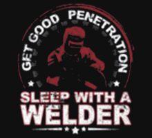 Get Good Welder Sleep With A Mechanic - T-shirts & Hoodies by anjaneyaarts