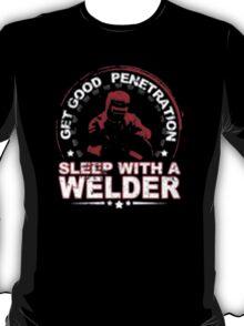 Get Good Welder Sleep With A Mechanic - T-shirts & Hoodies T-Shirt