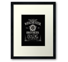 Winchester Since 1983 Brothers Saving People Hunting Things The Family Business - T-shirts & Hoodies   Framed Print