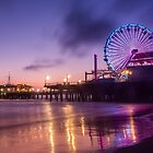 Santa Monica pier at Sunset by Graham Gilmore