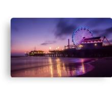 Santa Monica pier at Sunset Canvas Print