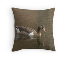 Domestic Goose Throw Pillow