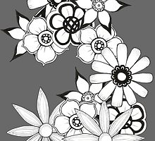 Ink flower patter  by xandecamanho