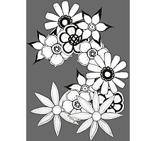 Ink flower patter  Photographic Print