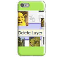 Delete Layer iPhone Case/Skin