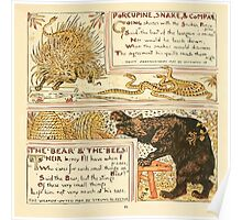 The Baby's Own Aesop by Walter Crane 1908-53 Porcupine Snake and Company, The Bear and the Bees Poster