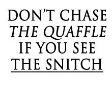 don't chase the quaffle if you see the snitch by thearcherballet