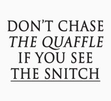 don't chase the quaffle if you see the snitch Kids Clothes