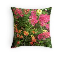 Fanciful Flora Throw Pillow