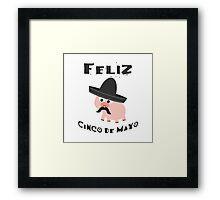 Feliz Cinco De Mayo Pig Framed Print