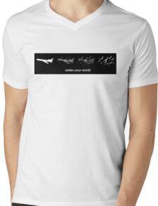Widen Your World Black T Shirt Mens V-Neck T-Shirt