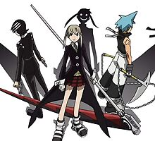 Maka, Death the Kid, Black Star by crazyfangirl97