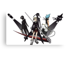 Maka, Death the Kid, Black Star Canvas Print