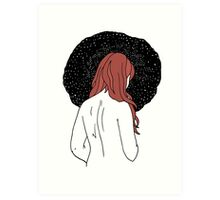 Sulking with Lisa Loeb on the Ice Planet Hoth (red) Art Print