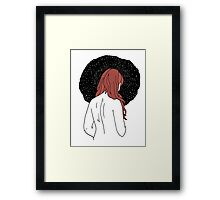 Sulking with Lisa Loeb on the Ice Planet Hoth (red) Framed Print
