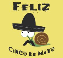 Feliz  Cinco De Mayo Snail One Piece - Short Sleeve