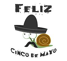 Feliz  Cinco De Mayo Snail by Eggtooth