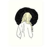 Sulking with Lisa Loeb on the Ice Planet Hoth (Blonde) Art Print