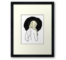 Sulking with Lisa Loeb on the Ice Planet Hoth (Blonde) Framed Print