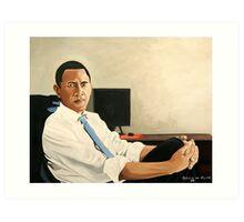Obama Looking Presidential Art Print