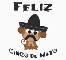 Feliz Cinco De Mayo Monkey One Piece - Short Sleeve