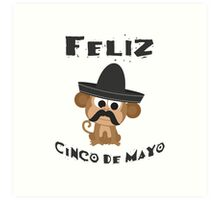 Feliz Cinco De Mayo Monkey Art Print