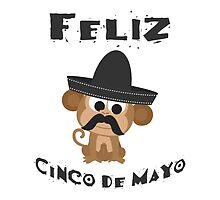 Feliz Cinco De Mayo Monkey by Eggtooth