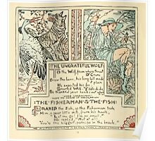 The Baby's Own Aesop by Walter Crane 1908-58 The Ungrateful Wolf, The Fisherman and the Fish Poster