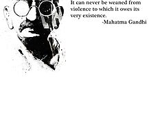 A Soulless Machine - Gandhi Quote Tee by tinaodarby