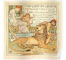 The Baby's Own Aesop by Walter Crane 1908-49 The Lion in Love Poster