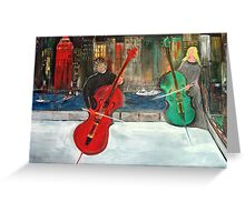 2 Cello Players /  Rooftop       (  My Paintings )  Greeting Card