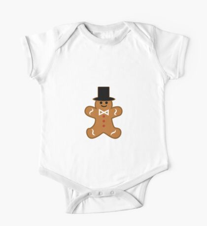 Cute Gingerbread Gentleman Cookie One Piece - Short Sleeve