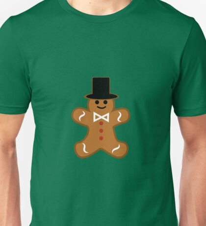Cute Gingerbread Gentleman Cookie Unisex T-Shirt