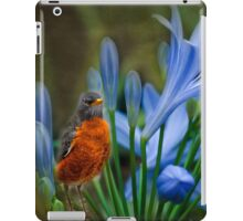 Robin in flowers iPad Case/Skin