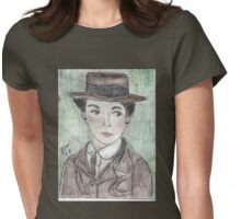 Coco Chanel(as Portrayed by Audrey Tatou) Womens Fitted T-Shirt