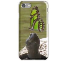 River Turtle Tortuga Poqueña, Adult iPhone Case/Skin