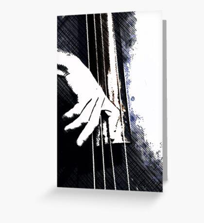 Jazz Bass Poster Greeting Card