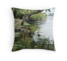 Bird Santuary Throw Pillow