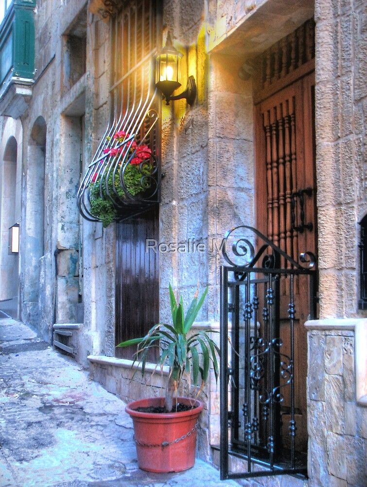 Maltese House in Valletta by Rosalie M