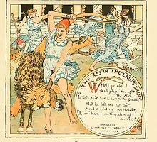 The Baby's Own Aesop by Walter Crane 1908-33 The Ass in the Lion's Skin by wetdryvac