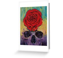 Skull Rose Greeting Card