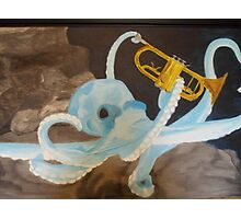 Octopus With Trumpet Photographic Print